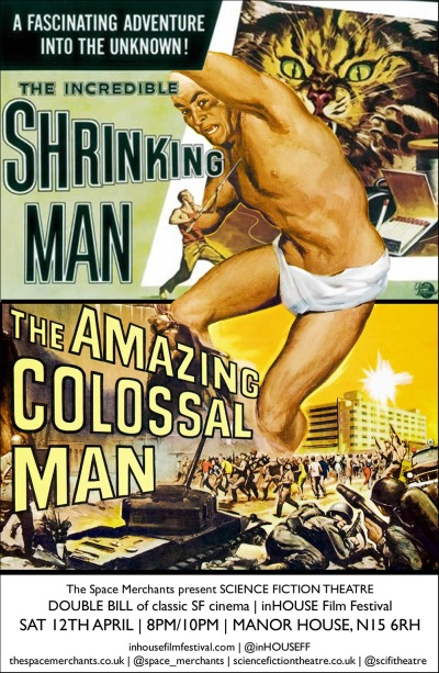 The Amazing Colossal Man & The Incredible Shrinking Man by Oscar Cainer