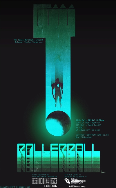 Rollerball - original movie poster by Max Oginni